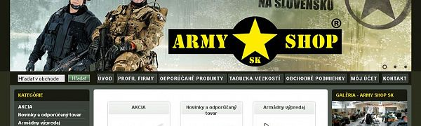 090b46f2e0ce Army Shop Sk v Žarnovici